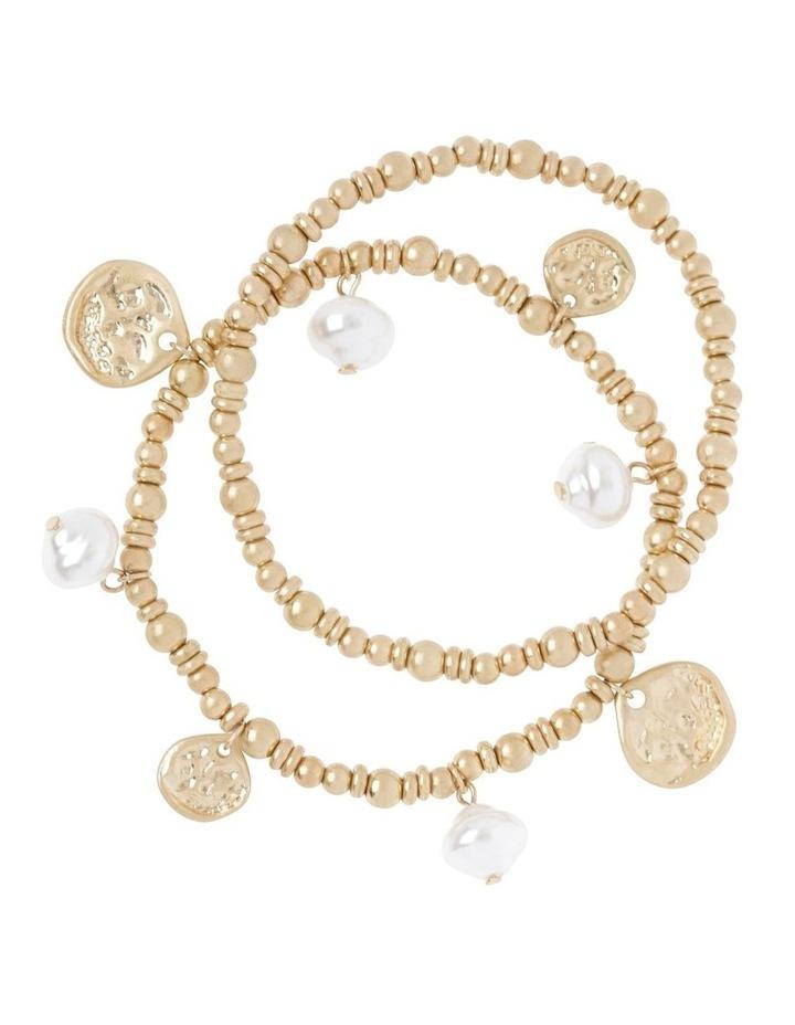 Pearl Stretch Bracelet Set image 1