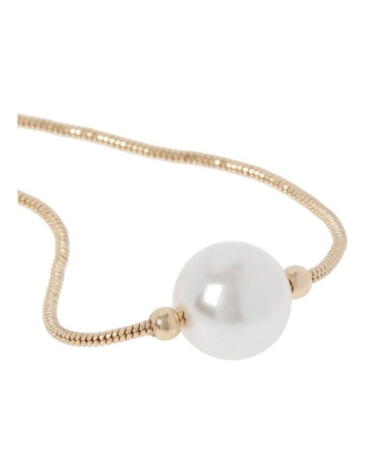 Glass Pearl Slider Bracelet image 2