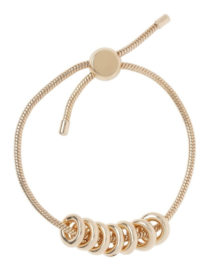 Gold Adjustable Ring Bracelet image 1