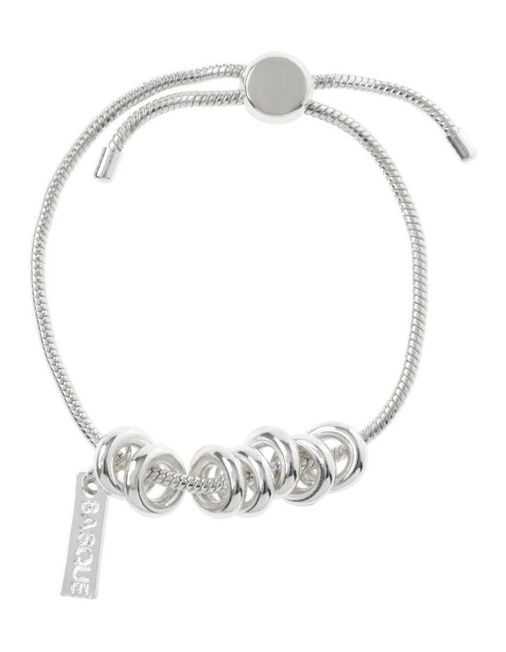 Silver Adjustable Ring Bracelet image 1