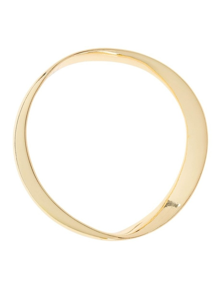 Gold Abstract Bangle image 1