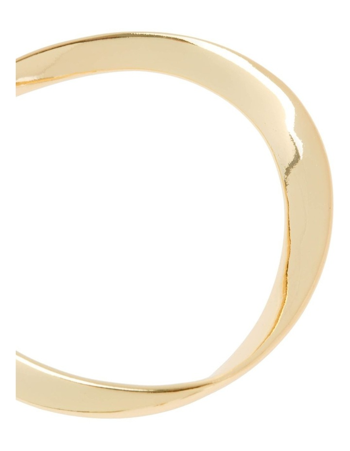 Gold Abstract Bangle image 2