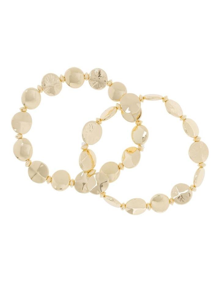 2 Pack Gold Stretch Bracelet image 1