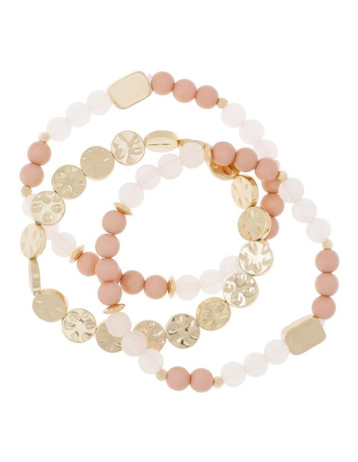Set of 3 Ivory Stretch Bead image 1