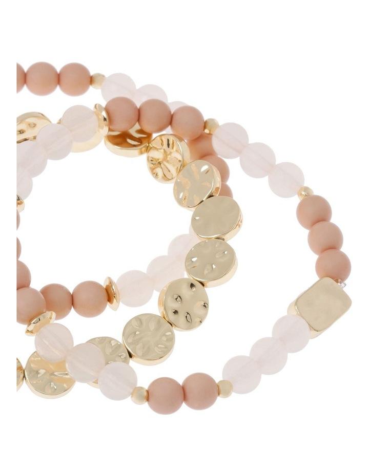 Set of 3 Ivory Stretch Bead image 2
