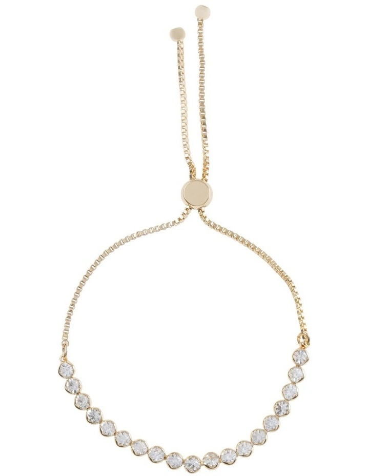 Adjustable Diamante Bracelet Gold image 1