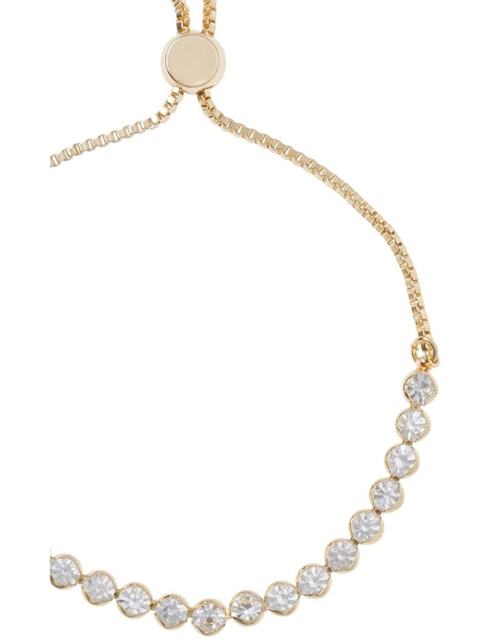 Adjustable Diamante Bracelet Gold image 2