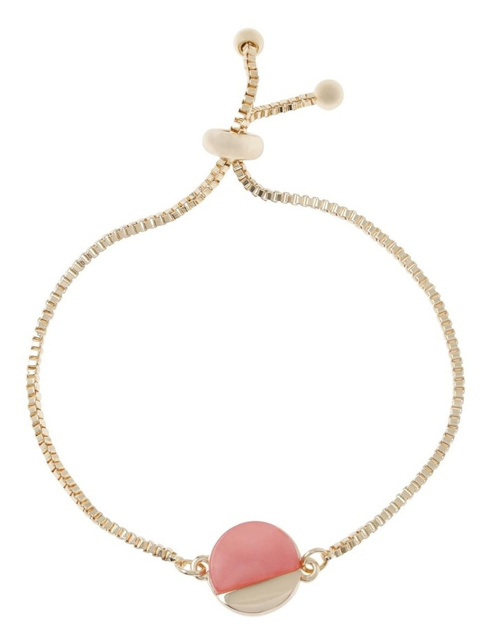 Adjustable Blush Disc Pendant Bracelet image 1