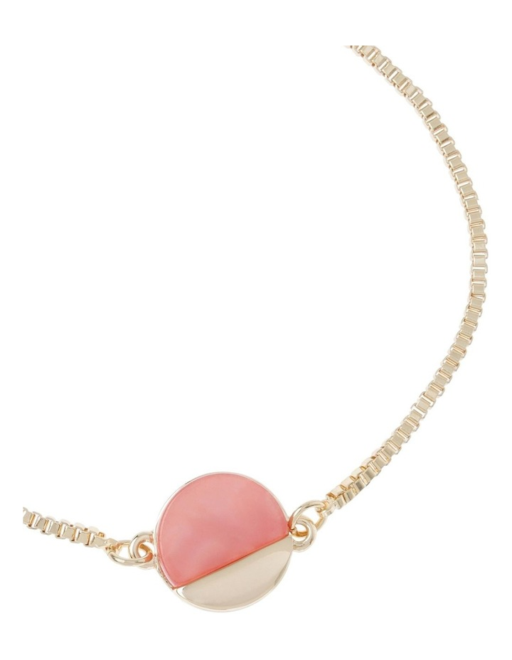 Adjustable Blush Disc Pendant Bracelet image 2