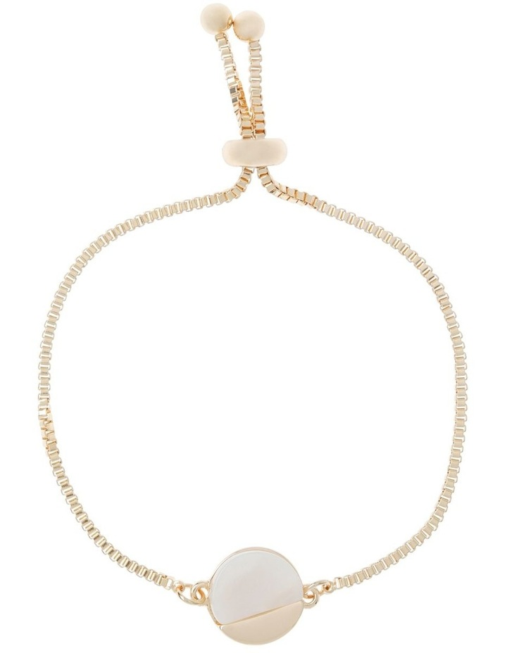 Adjustable Disc Pendant Bracelet Ivory image 1