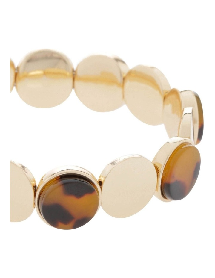 Gold Circle Stretch Bracelet image 2