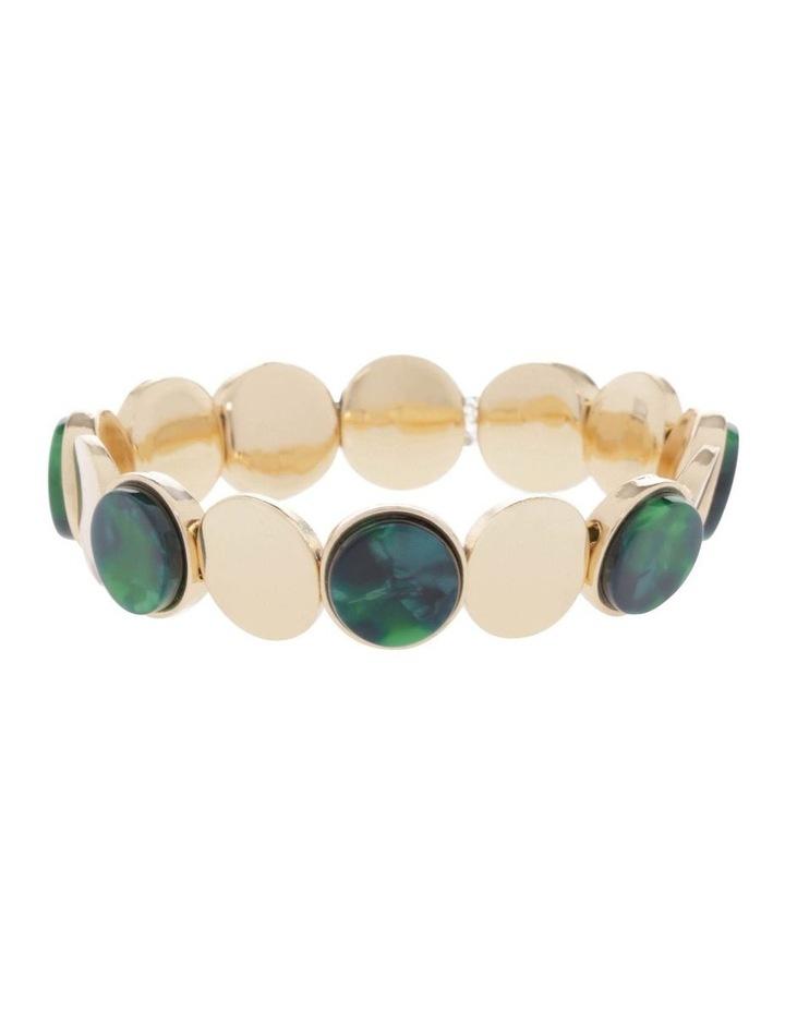Gold Circle Stretch Bracelet image 1