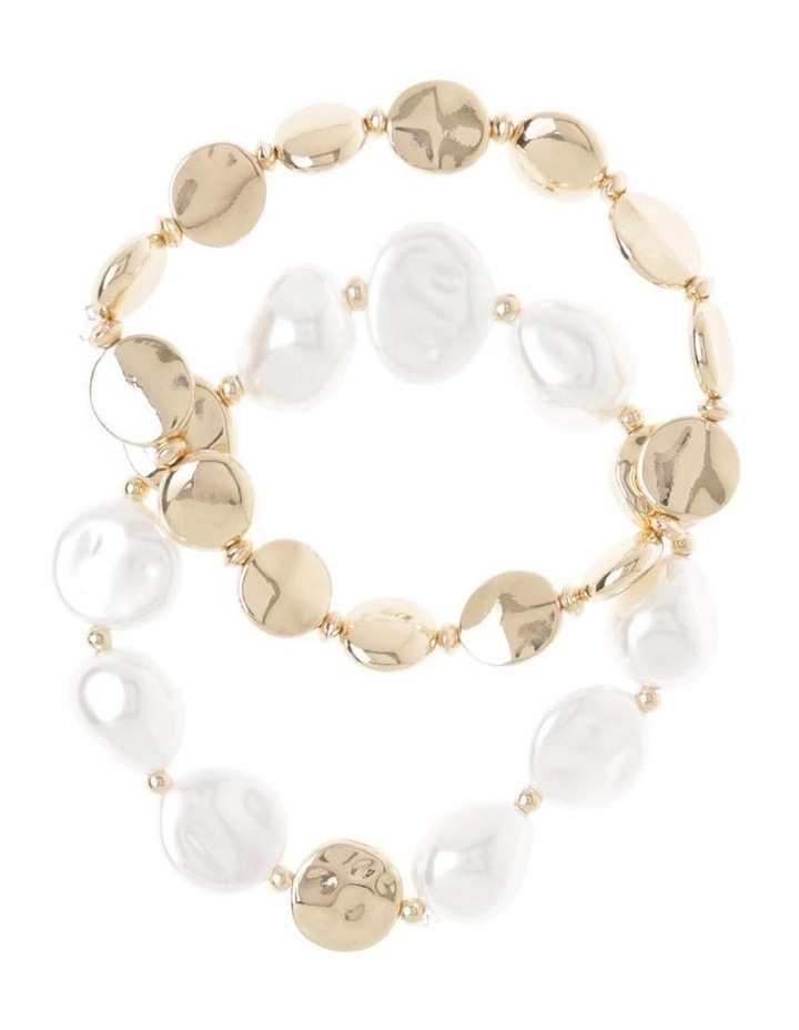 2 Pack Pearl Stretch Bracelet image 1