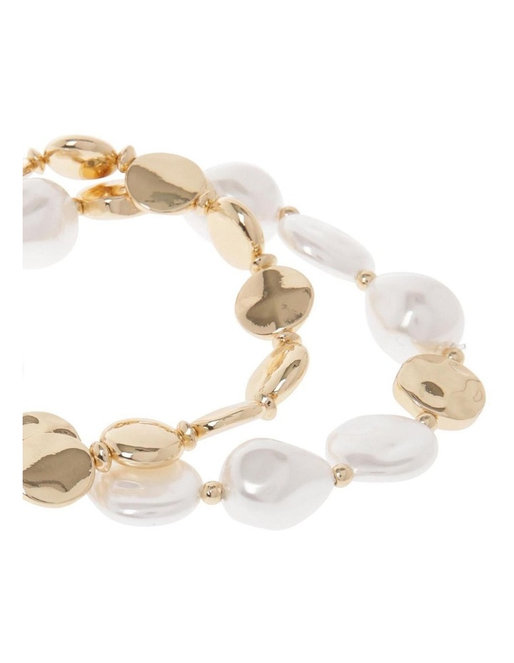 2 Pack Pearl Stretch Bracelet image 2