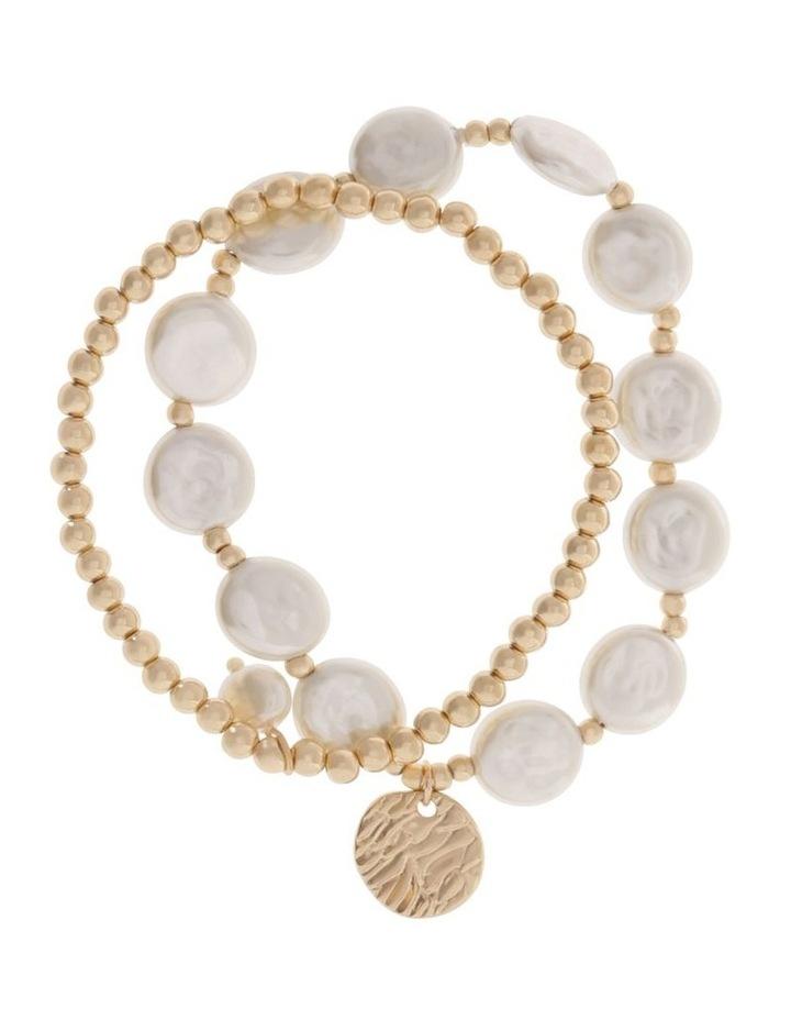 Organic Pearl Bracelet Set image 1