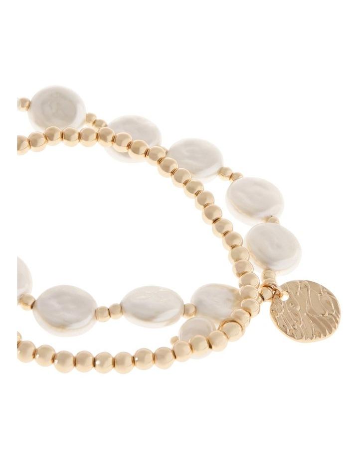 Organic Pearl Bracelet Set image 2