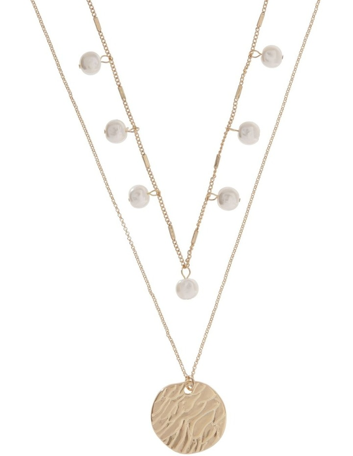 Organic Pearl Layered Necklace image 1