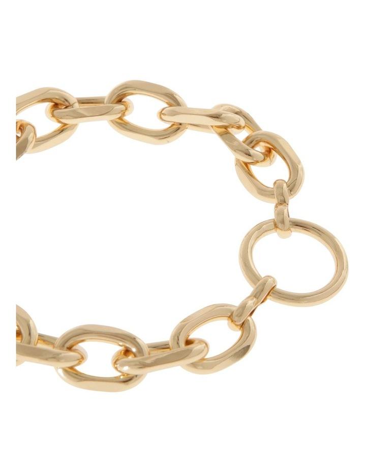 24k Gold Plated Centre Circle Link Bracelet image 2