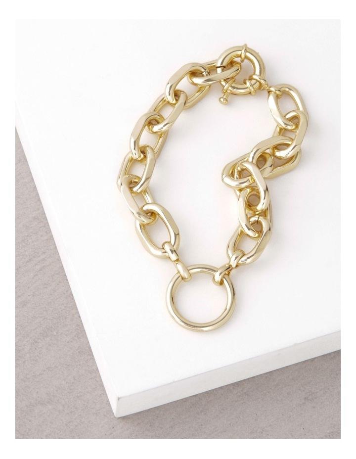 24k Gold Plated Centre Circle Link Bracelet image 3