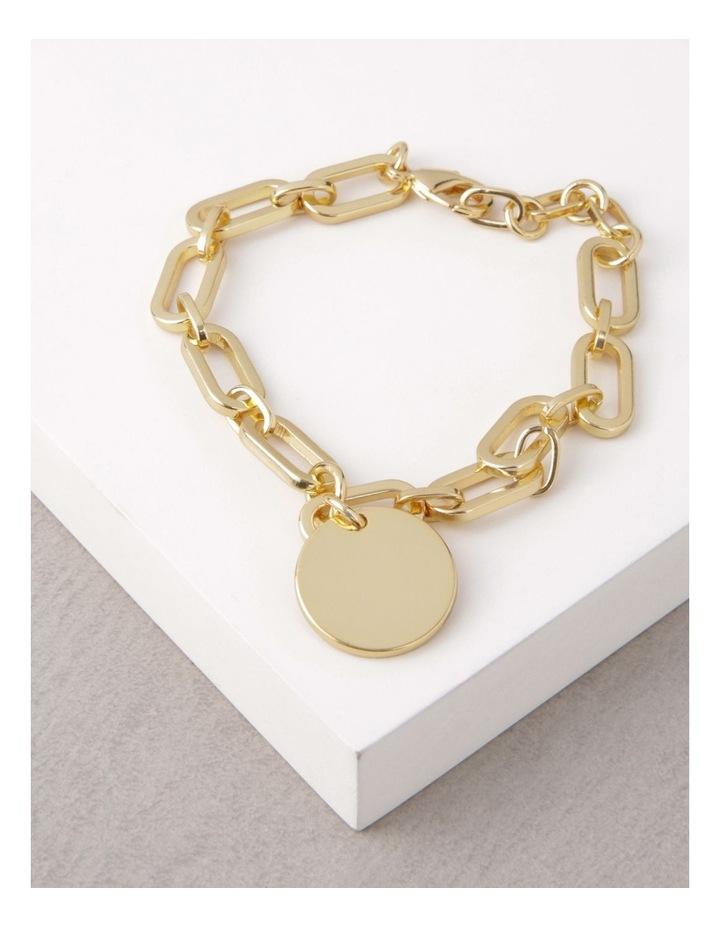 24k Gold Plated Flat Disc Chain Bracelet image 3