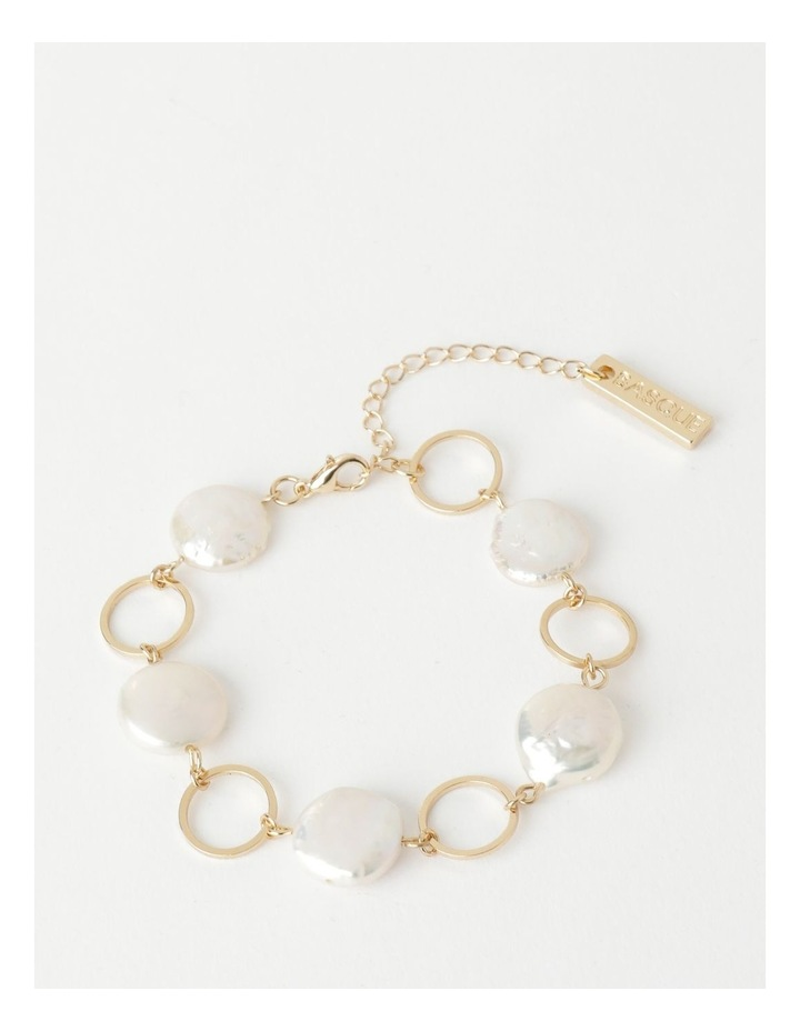 Flat Pearl Chain Bracelet image 1