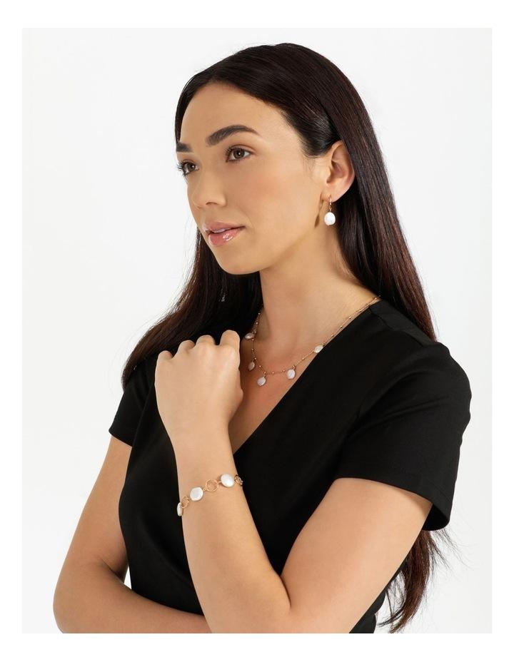 Flat Pearl Chain Bracelet image 2