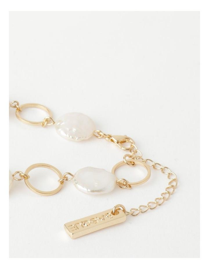 Flat Pearl Chain Bracelet image 3