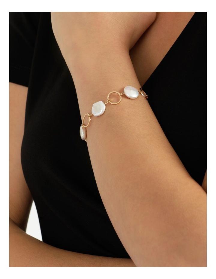 Flat Pearl Chain Bracelet image 4