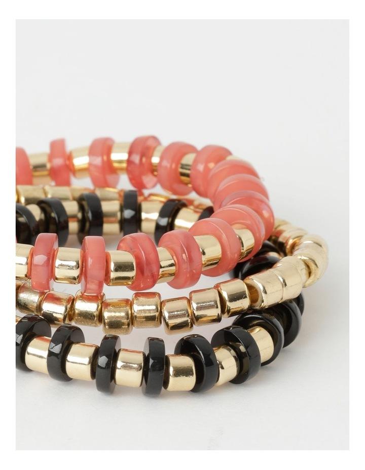 Flat Bead Stretch Bracelet - 3 Pack image 2
