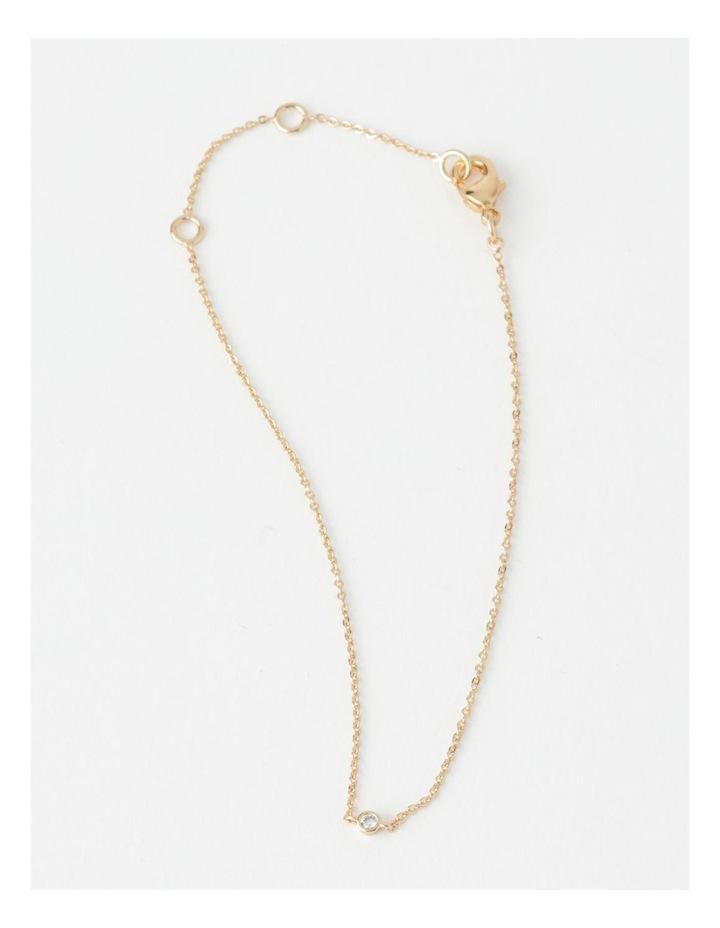 Single Stone Fine Chain Bracelet image 1
