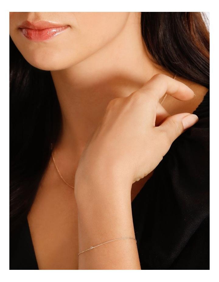 Single Stone Fine Chain Bracelet image 2