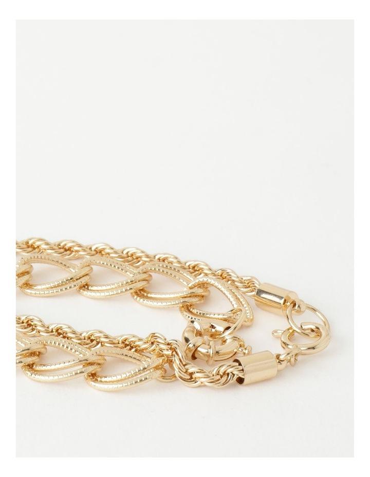 Textured Gold Chain Bracelet image 2