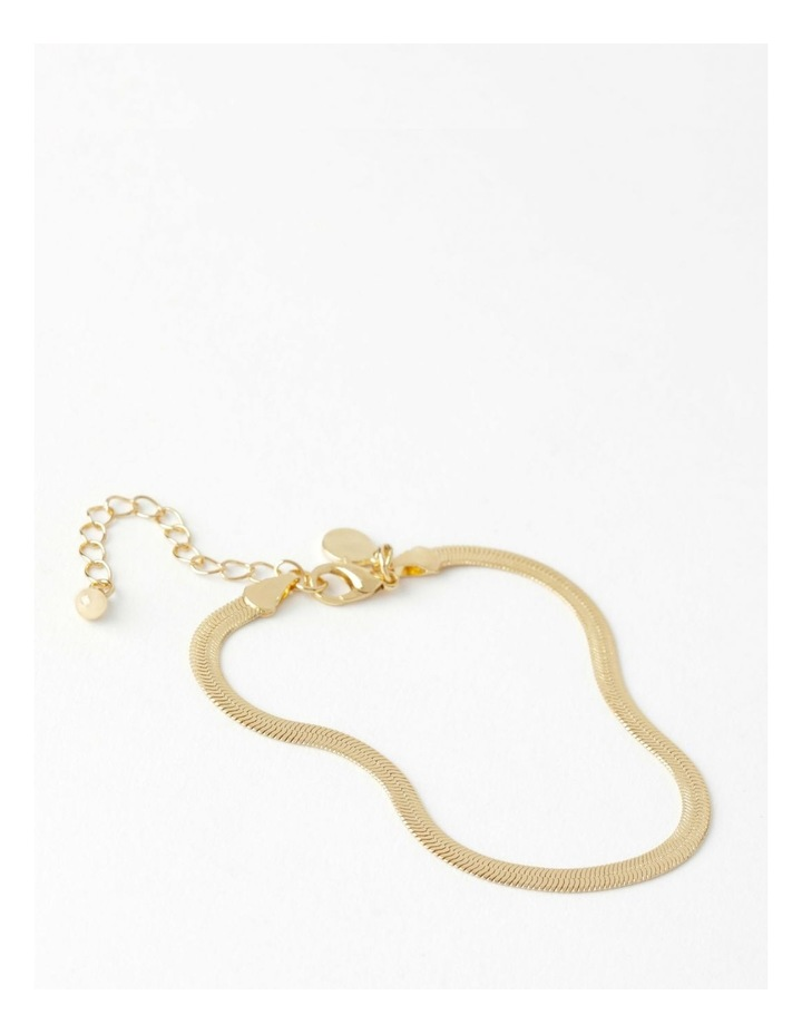 Flat Snake Gold Chain Bracelet image 1
