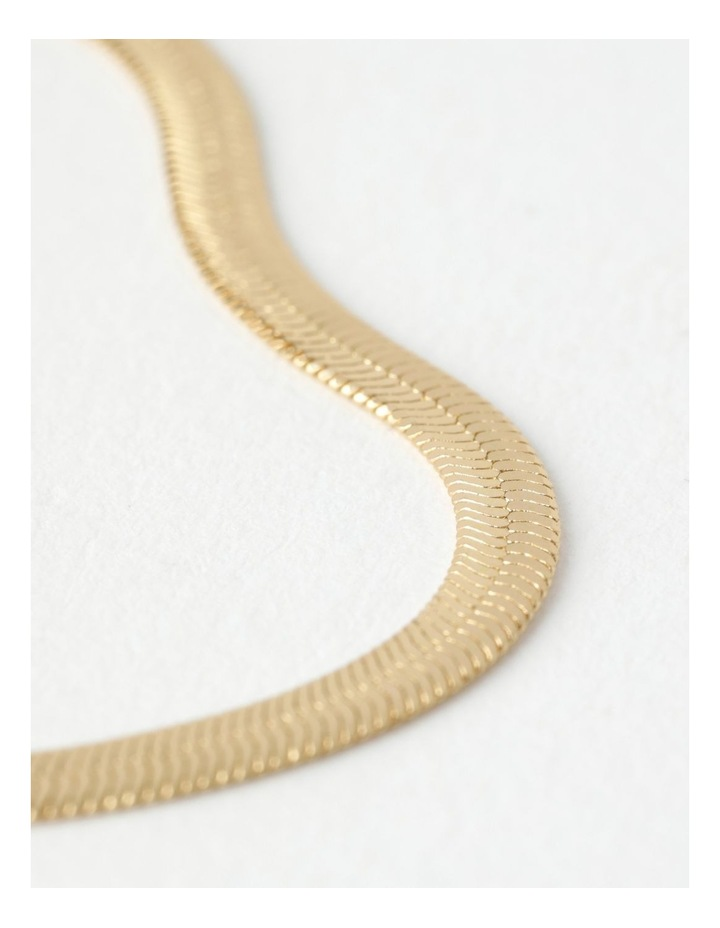 Flat Snake Gold Chain Bracelet image 2