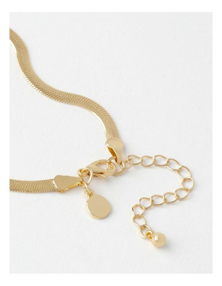 Flat Snake Gold Chain Bracelet image 3