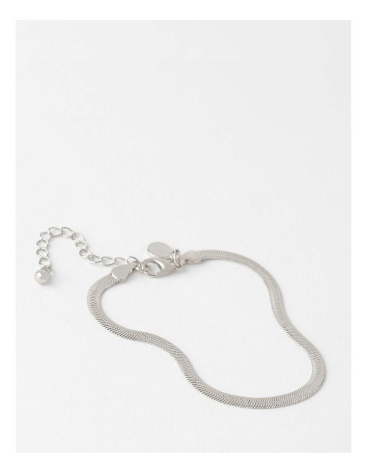 Flat Snake Silver Chain Bracelet image 1