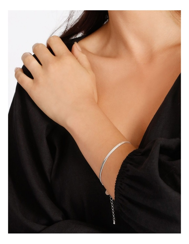 Flat Snake Silver Chain Bracelet image 2