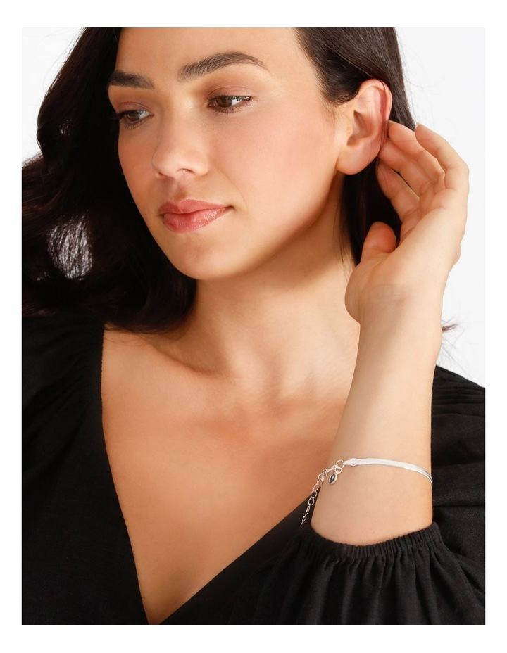 Flat Snake Silver Chain Bracelet image 4
