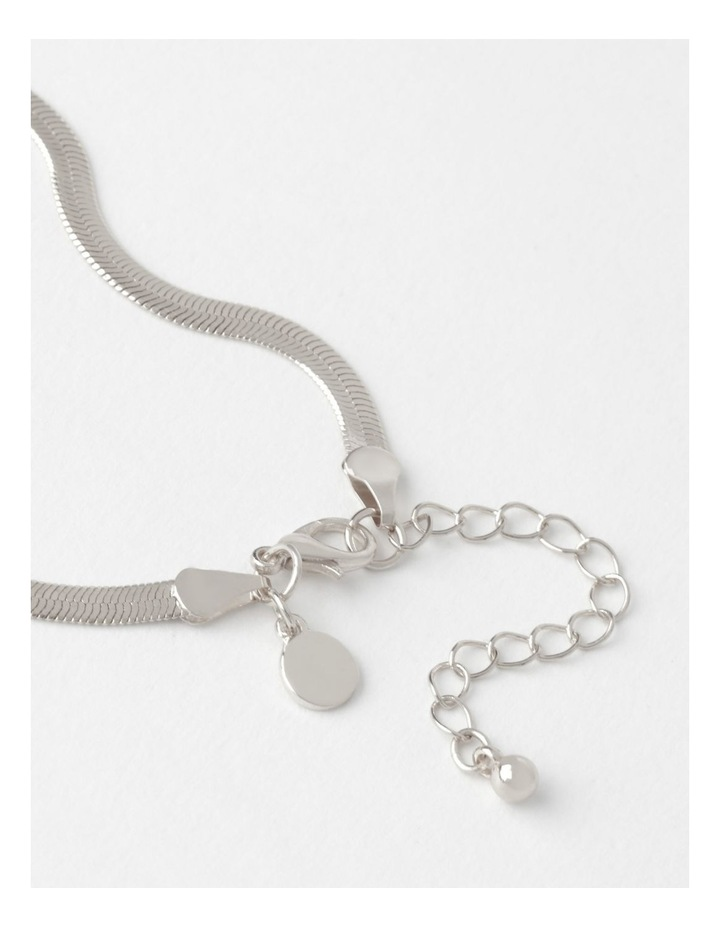 Flat Snake Silver Chain Bracelet image 5