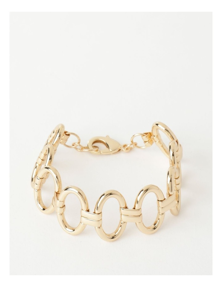 Sculptural Link Wrist Gold Bracelet image 1