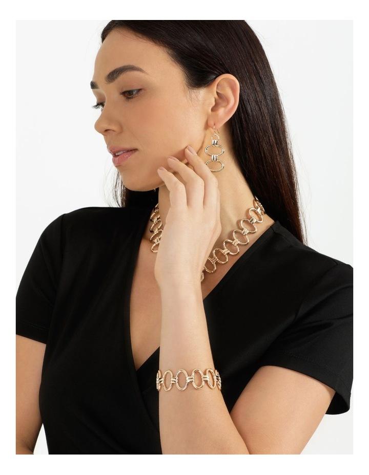 Sculptural Link Wrist Gold Bracelet image 2