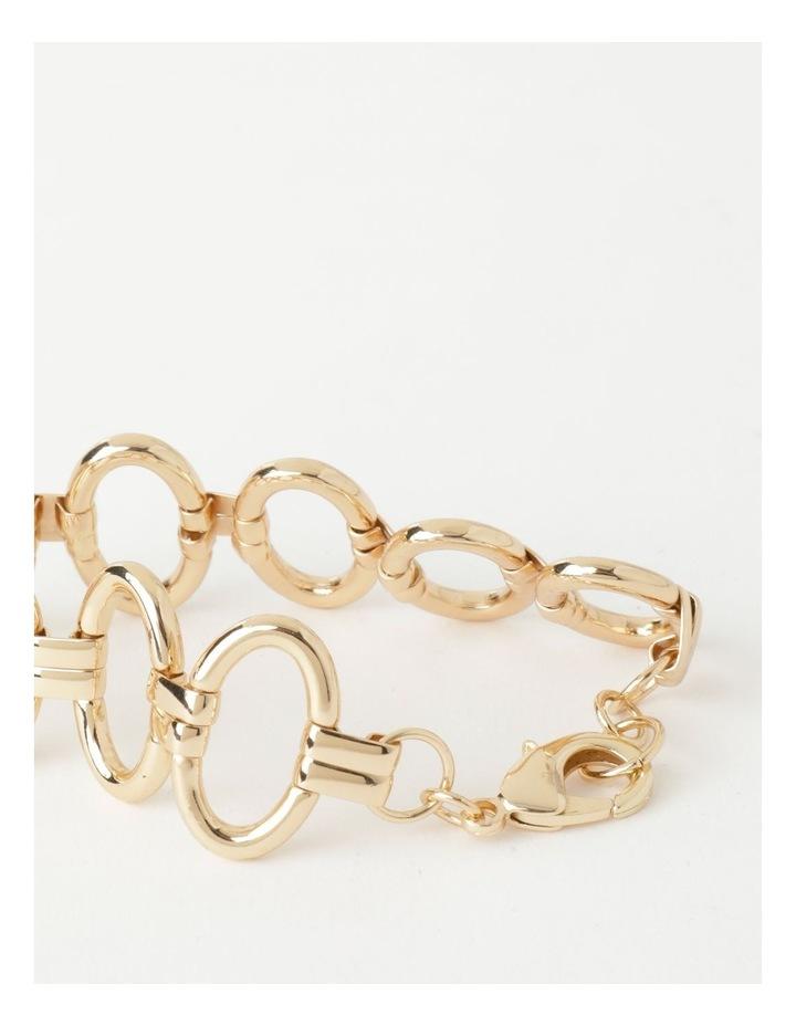 Sculptural Link Wrist Gold Bracelet image 3