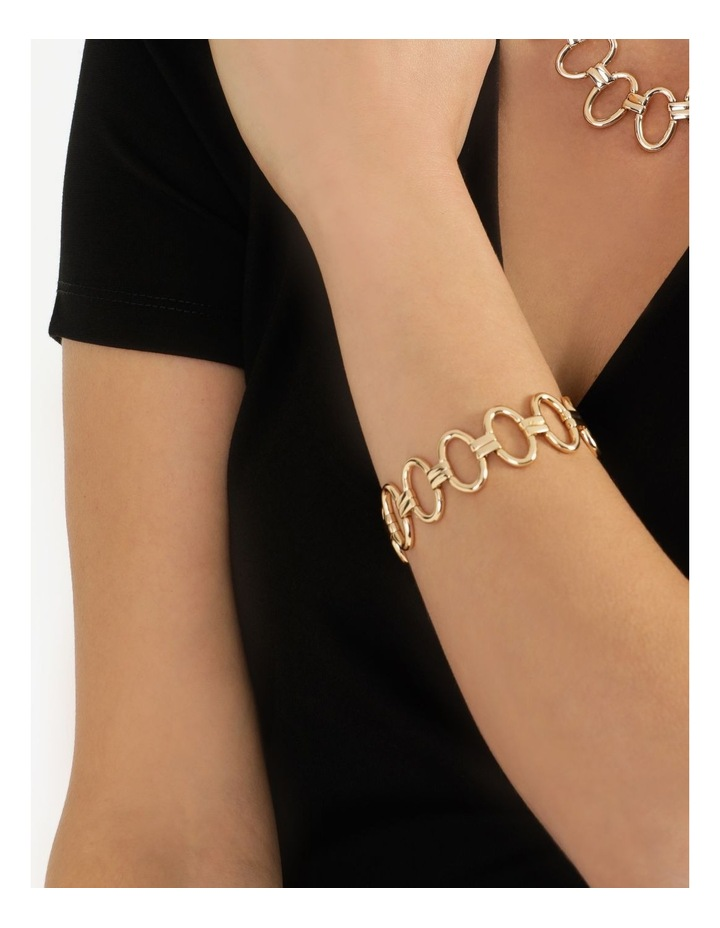 Sculptural Link Wrist Gold Bracelet image 4