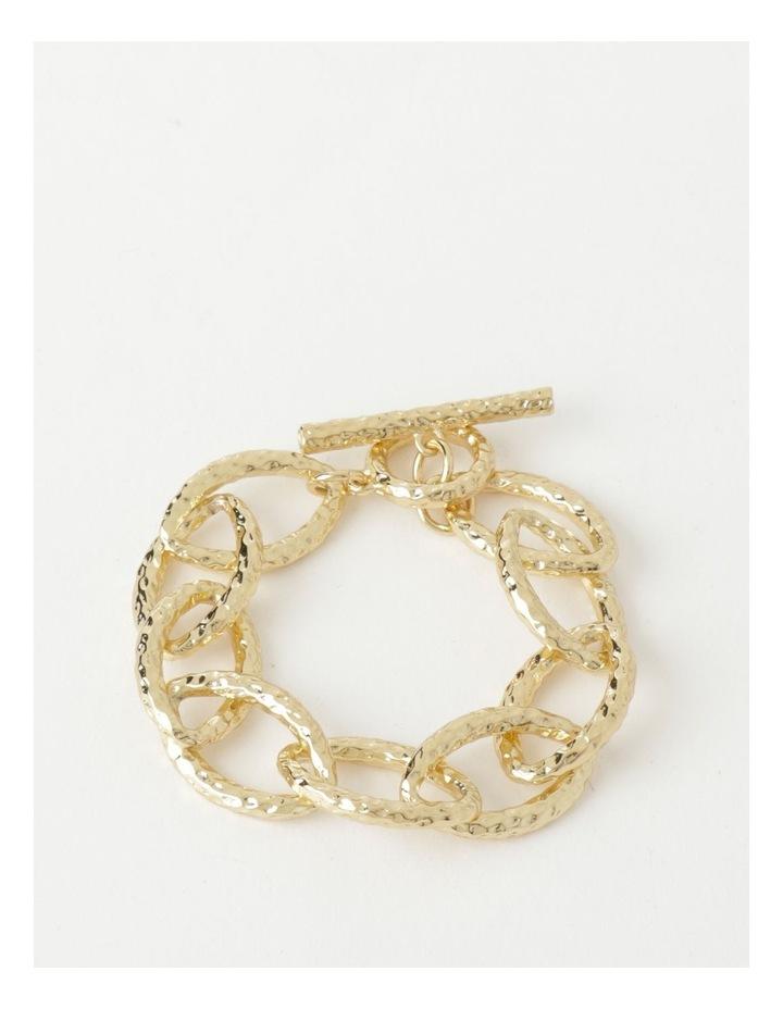 Molten Link Wrist Gold Bracelet image 1