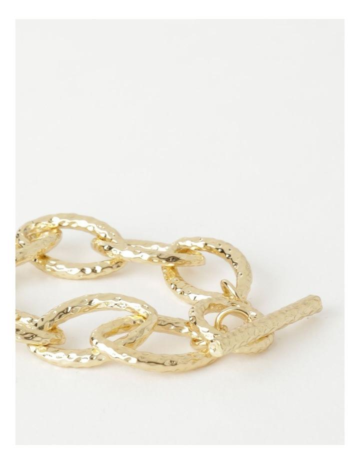 Molten Link Wrist Gold Bracelet image 3