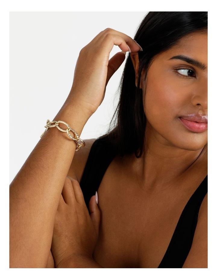 Molten Link Wrist Gold Bracelet image 5