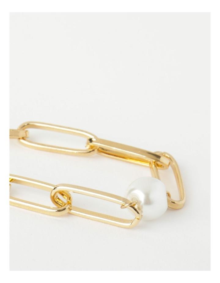 Link and Pearl Gold Bracelet image 3