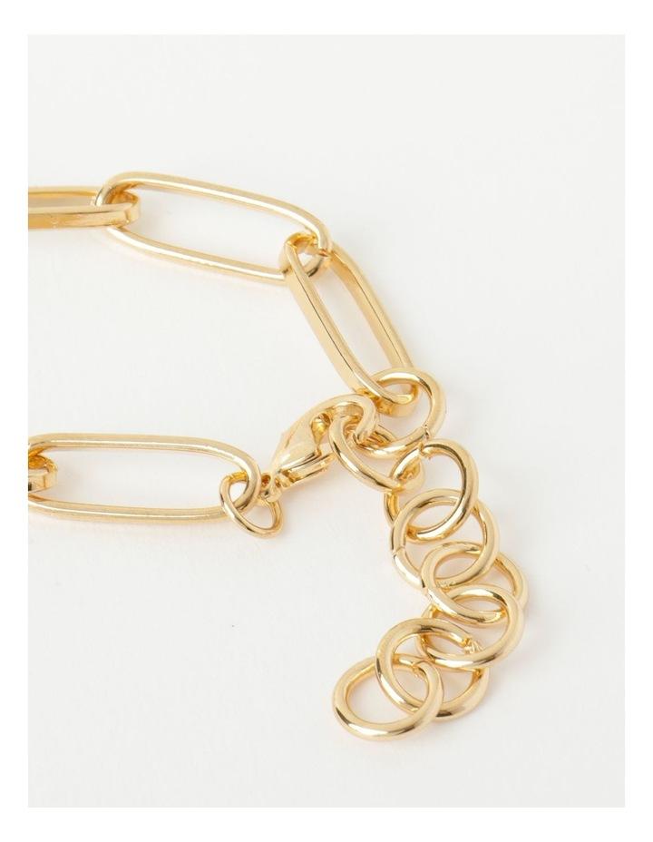 Link and Pearl Gold Bracelet image 5