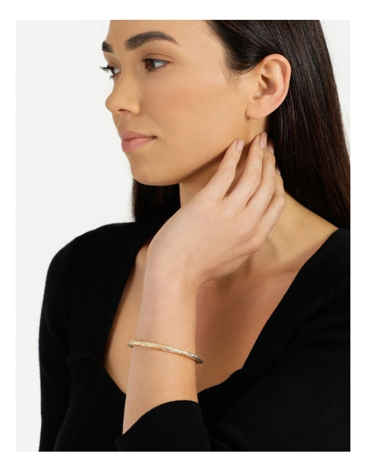 Molten Cuff Gold Bracelet image 2