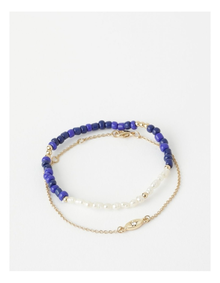 Spliced Pearl Bracelet Set image 1